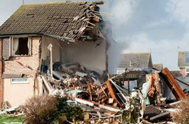 Michelle Stephens - photo of a house after an explosion