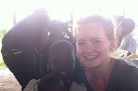 Photo of Sarah in Africa