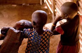 Jodie Major  - photo of three Kenyan children