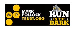 Mark Pollok trust, run in the dark logo